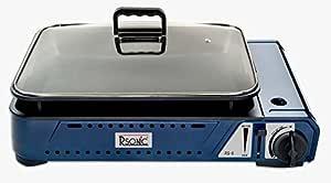 RSonic Deluxe - Barbacoa de gas portátil con parrilla + tapa ...