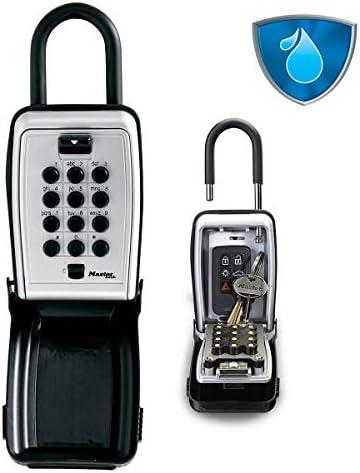 Master Lock 5422EURD Schlüsseltresor mit Druckknopf und Bügel Bügelhalterung [Medium] [Wetterfest] 5422EURD-Schlüsselsafe