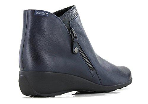 Navy MEPHISTO Bottines SERENA Femme Boots qHvpwH