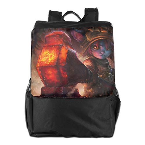 Outdoor Shoulder Backpack Tavel Bag Daypack School Laptop Bag-Poppy-League Of Legends (Best League Of Legends Laptop)