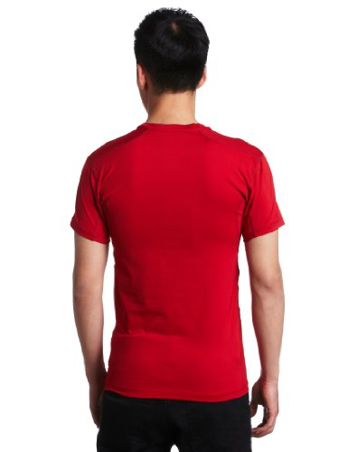Short Nike Grey Red Sleeve Mens Flint Shirt Varsity 44qwAr5