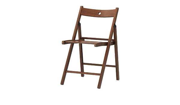 Silla plegable de madera maciza, para interiores y ...