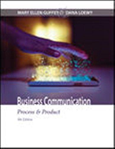 Business Communication Process Product MindTap Course List