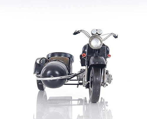 Old Modern Handicrafts AJ042 Black Vintage Motorcycle by Old Modern Handicrafts