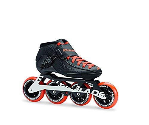 Rollerblade Powerblade JR Skates Black/Orange 23.5 & Headband Bundle