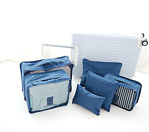 denshine Cube wasserfest Kleidung Verpackung Lagerung Taschen Reise Gepäck Buggy Staubbeutel dunkelblau
