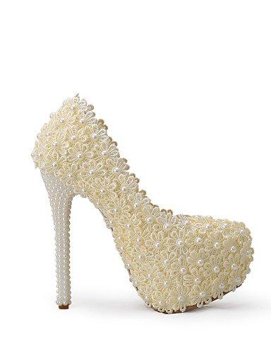 GGX/ Damen-Hochzeitsschuhe-Absätze-High Heels-Hochzeit / Kleid / Party & Festivität-Champagner 5in & over-us5 / eu35 / uk3 / cn34