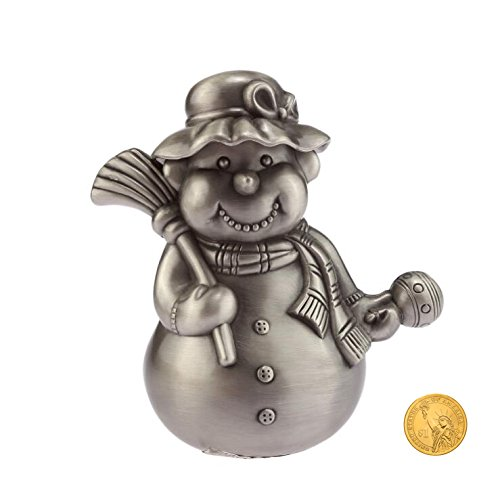 Child Silver Coin (Piggy Bank, Metal Christmas Snowman Santa Money Bank Creative Coin Bank Piggy Bank for Children Christmas Gift)