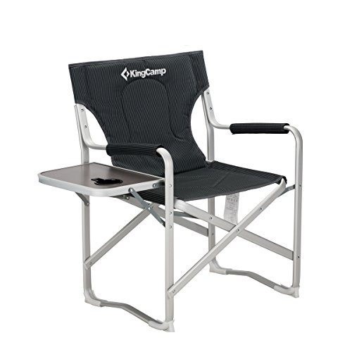 KingCamp Aluminum Portable Heavy Duty Folding Camping Director Chair