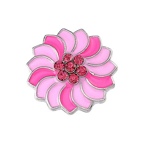 Hebel 3D 18mm Rhinestone Drill Snaps Chunk Charm Button for Noosa Leather Bracelets 9 | Model BRCLT - 29616 |
