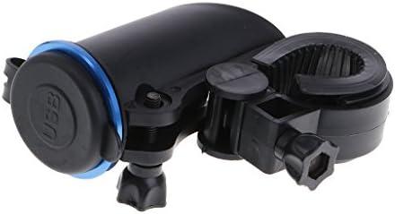 Almencla ユニバーサル オートバイ デュアル USB充電器 アダプタ シガレットライター ソケット