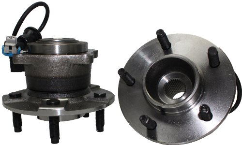 Rear Wheel Hub And Bearing (Brand New (Both) Rear Wheel Hub and Bearing Assembly 2002-07 Saturn Vue 5 Lug W/ ABS (Pair) 512229 x2)