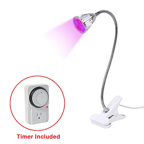 -1 Clip Grow Lamp for Indoor Plants Greenhouse Office (1 Bulb Heat Lamp)
