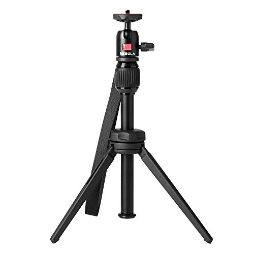 Nebula Capsule Adjustable Tripod Stand,Compact,Lightweight,Aluminum Alloy Portable Projector Stand for Pico Projector,Pocket Projector and Mini Projector with Universal Mount and Swivel Ball Head