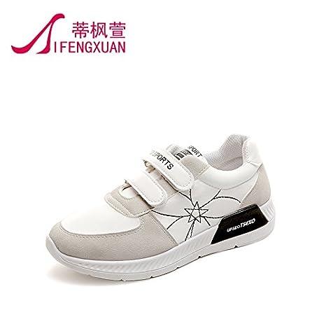 Calzado deportivo mujer primavera Harajuku zapatillas blancas salvajes, solo zapatos zapatos de mujer casual ,36, negro: Amazon.es: Deportes y aire libre