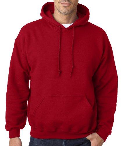 Gildan Adult Heavy BlendHooded Sweatshirt - Cardinal Red - - Adult Cardinal Sweatshirt