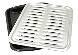 Porcelain Broiler Pan with Chrome Grill