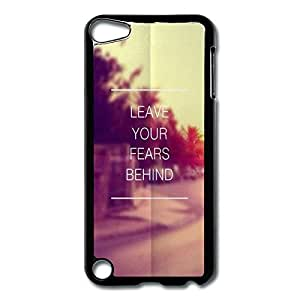 Diy For Iphone 5C Case Cover Leave Fears Behind Hard Back Cover Shell Desgined By RRG2G