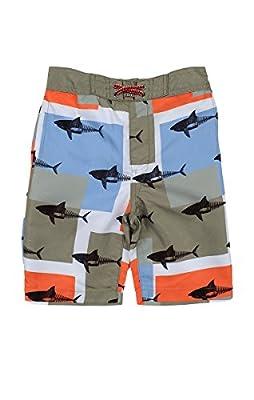 Appaman Kids Mens Shark Block Pattern Swim Trunks (Toddler/Little Kids/Big Kids)