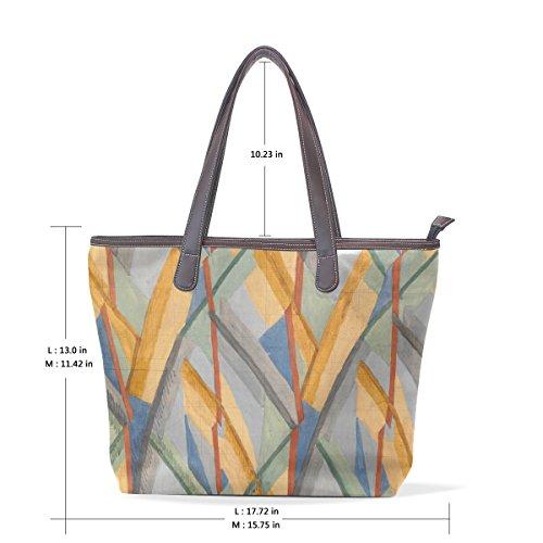 Grande Vernice Borsa Art M Tote Cuoio Manico Elaborazione Dell'unità Bag Womens Coosun Spalla Muticolour Cm 40x29x9 Di gfqnR00w