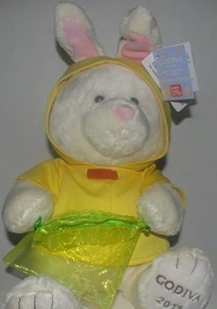 Amazon Com 2013 Godiva Plush Bunny Wearing Yellow Jacket 10