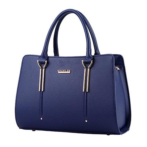 LDMB Bolsos para mujer Dulce señora moda hombro bolso de mensajero , purple taro deep blue