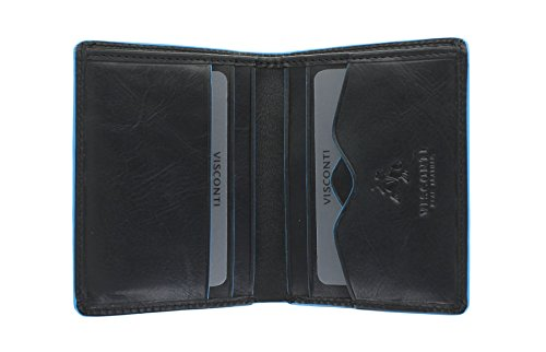 Protection Wallet Compact RFID Alps ALP84 With Leather Collection Black Visconti SMITH Brown qR8x1w7