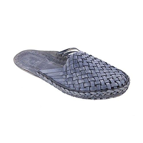 KOLHAPURI CHAPPAL Pantofole Uomo Grigio Grey, Grigio (Grey), 40