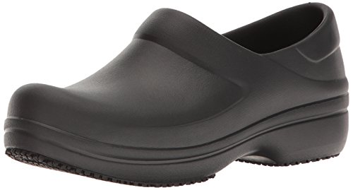 Crocs Women's Neria Pro Clog W Mule, Black, 9 M US by Crocs