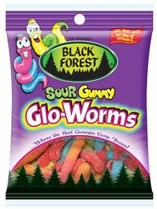 Black Forest Sour Gummy Glo Worms Candy, 4.51 oz