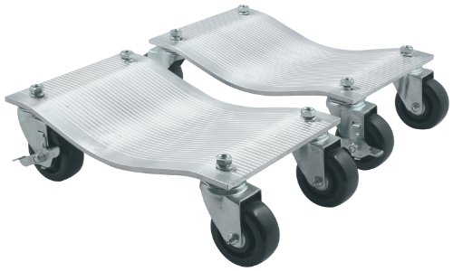 Allstar Performance ALL10135 5000 lbs Aluminum Deluxe Caster Wheel Dolly, (Pack of 2)
