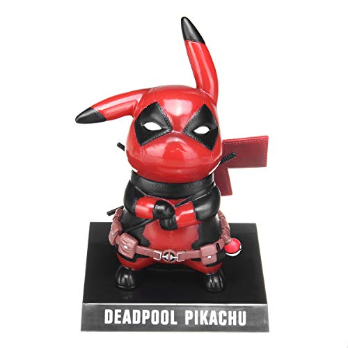 Cosmos eStore Deadpool Pikachu Pokemon Action Figure 14cm Collectible Model Soldier Toy Cartoon Room Desk Decor Boys Girls Gift ()