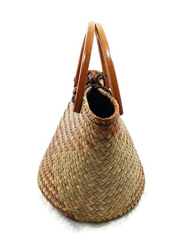 D��cor Retro Hand for Large Hobo woven Tote Bag with Round Handle Straw Summer handmade Women Beach Bag wBfaqUx
