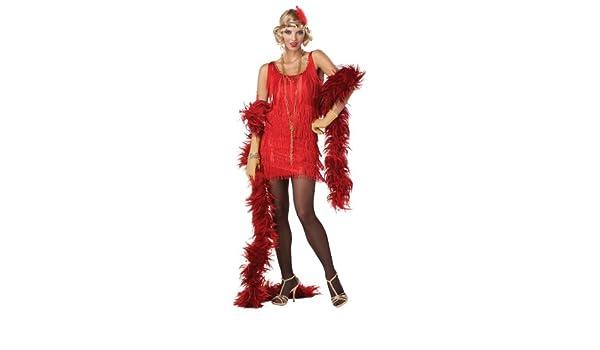 Disfraz Charlestón rojo mujer S: Amazon.es: Juguetes y juegos