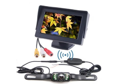 BW® Wireless Car Rear View IR Nightvision Backup Camera 4.3 inch LCD Parking Monitor System