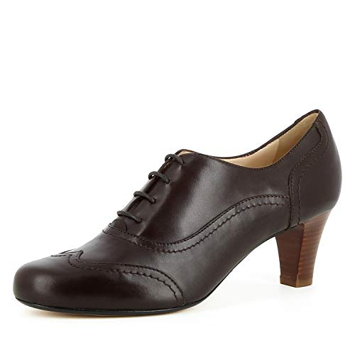 Escarpins Cuir Marron Foncé Evita Giusy Shoes Femme Lisse IpvwcaEqx