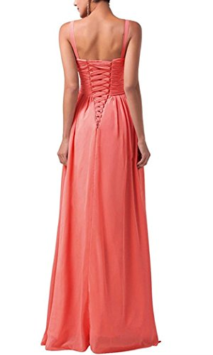 Long AN69 Prom Gown Anlin Dress Party Womens Neck Evening Mother Chiffon V Yellow Pleated Wqwfw1I8P7