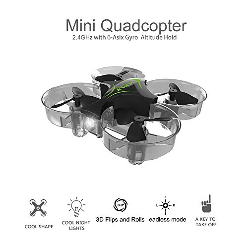Linxtech XFLY 1603 Ultra Micro Drone with Ducted Fan Mini Quadcopter UAV 6-Axis Gyro Sensor 360° Flip RTF Headless Drone with LED Headlight Ducted Fan Helicopter