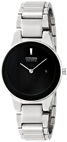 Citizen Eco-Drive Women's GA1050-51E Axiom Analog Display Silver Watch