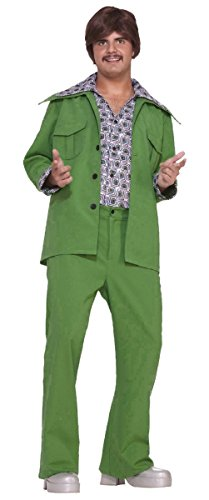 70's Leisure Suit Adult Costume Green - Standard