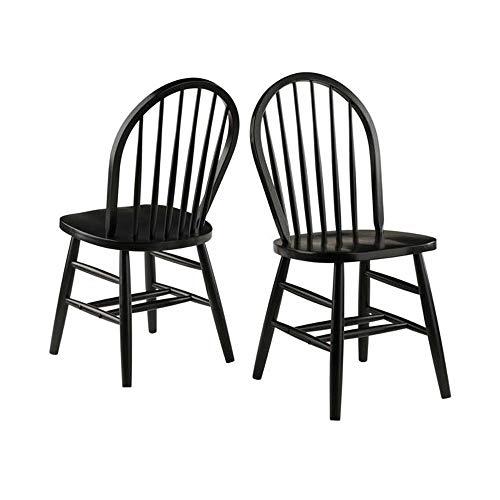 - Winsome Wood 29836 Windsor 2-PC Set RTA Black Chair