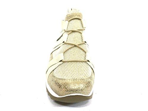IGI&CO 7770 Platino Scarpa Donna Sneaker con Elastico Pelle Made in Italy