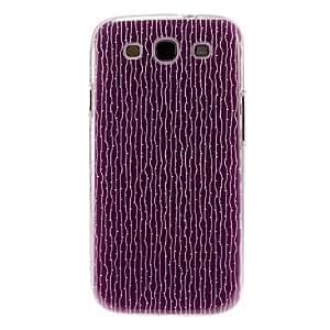 Árbol púrpura raya el modelo de la cubierta estuche duro de protección de plástico para el Samsung Galaxy S3 I9300