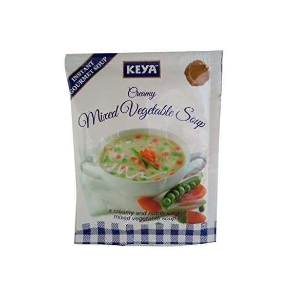 Keya Soup Mix - Mixed Vegetable, 13g Pouch