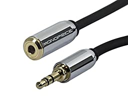 Monoprice 110151 50-Feet 3.5mm Stereo Extension Cable for Mobile