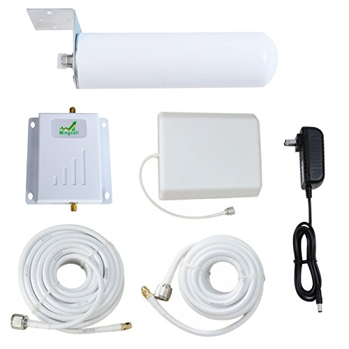 Cell Phone Signal Booster Band 12/17 T-Mobile ATT 700MHz 4G Lte – Mingcoll Home Signal Repeater with Indoor Directional Panel Antenna and Outdoor Omnidirectional Tubular Antenna by Mingcoll