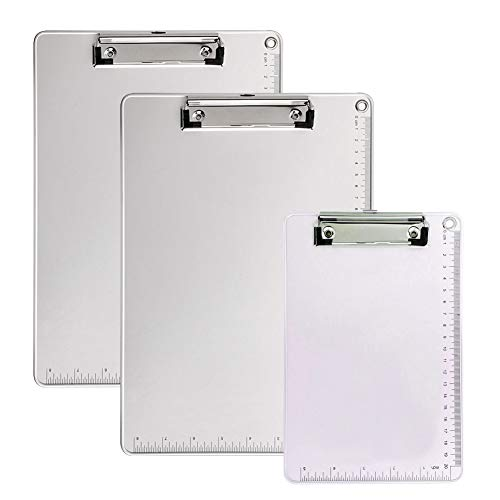 Clipboard, Recycled Heavy Duty Aluminum with Strong Clip Double Side Non-Slip Design, 9'' x 12.5'' by Kakbpe