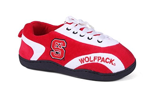 NCS05-4 - North Carolina State Wolfpack - X Large - Happy Feet Mens and Womens All Around Slippers
