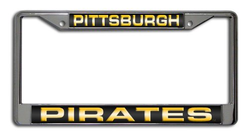 - MLB Pittsburgh Pirates Laser-Cut Chrome Auto License Plate Frame