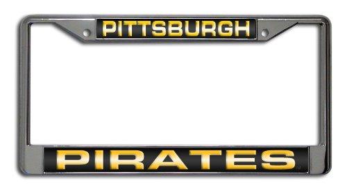 MLB Pittsburgh Pirates Laser-Cut Chrome Auto License Plate Frame